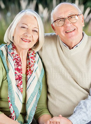 Couple in assisted living at South Pointe