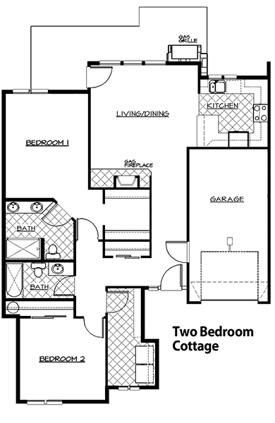 nikura cottages simple house two clever plan majestic plans cottage floor bedroom design