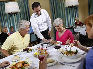 Gourmet dining available at Columbia senior living!