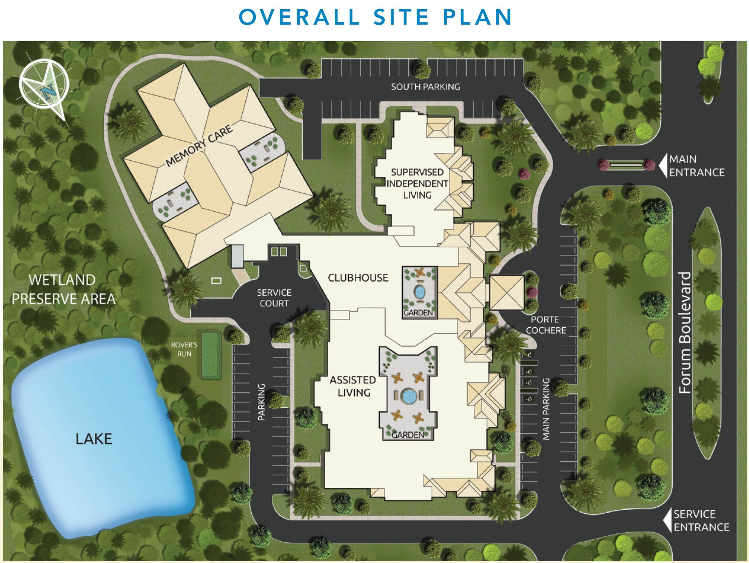 senior living community in fort myers fl site plan