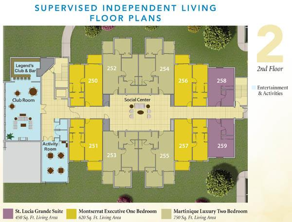 Assisted Living Facility Floor Plans: Discovery Village At The Forum