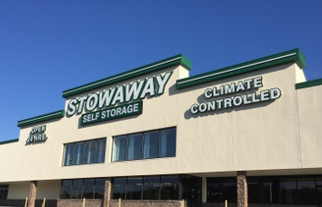 Greeneville self storage facility has a clean exterior building