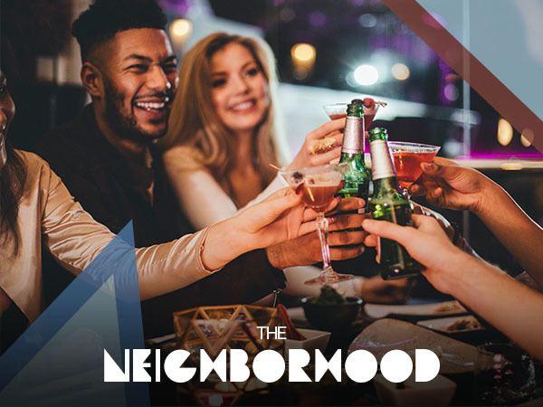Friends enjoying drinks in Nashville near West End Village