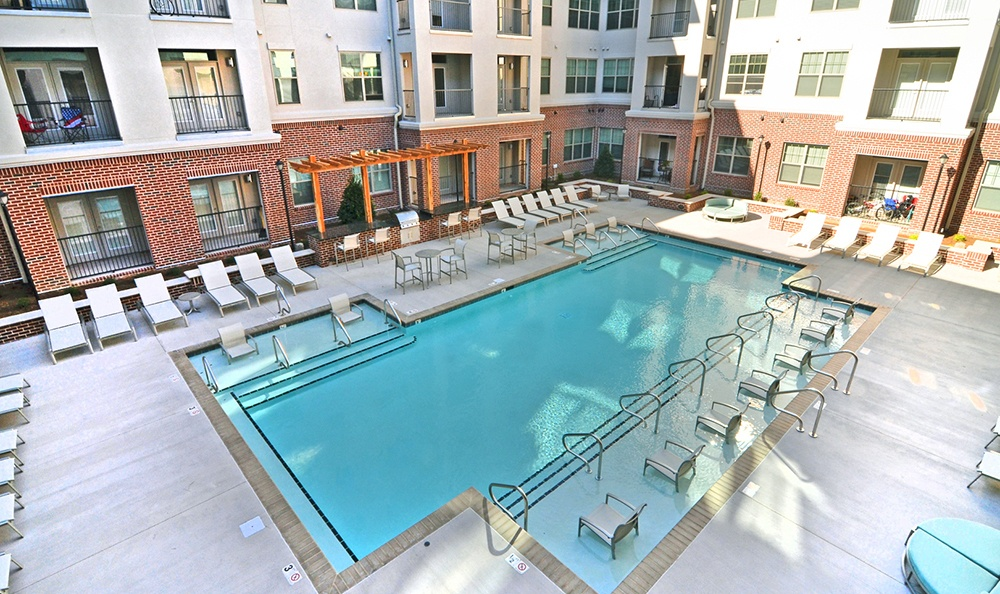Swimming Pool At Apartments In Nashville Tennessee