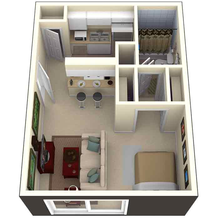 1 Bedroom. Garden Style Studio  1   2 Bedroom Apartments in Tampa  FL