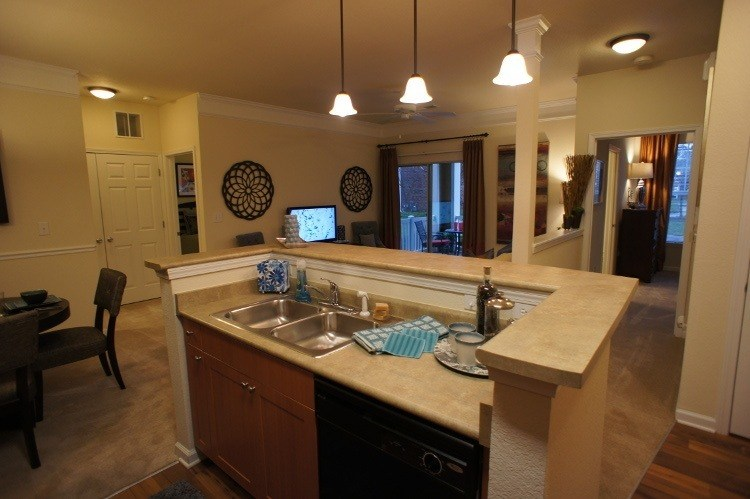 Kitchen area at Preserve at Steele Creek in Charlotte