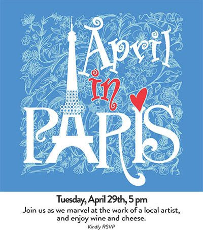 April In Paris - activities at The Garden House in Anderson, SC