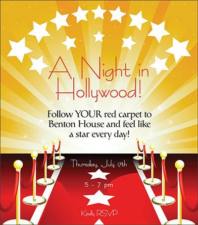 A Night in Hollywood - activities at The Garden House in Anderson, SC