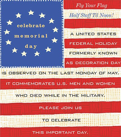 Celebrate Memorial Day - activities at Benton House of Augusta in Augusta, GA