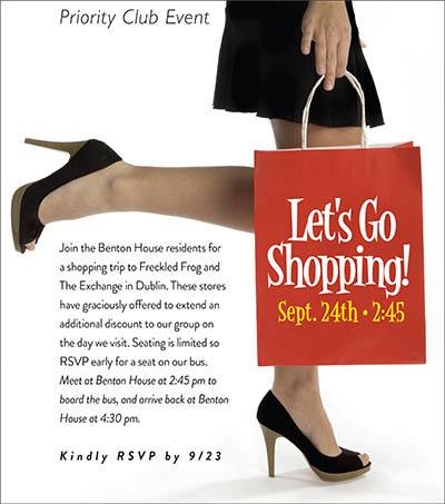 Let's Go Shopping - activities at Benton House of Augusta in Augusta, GA