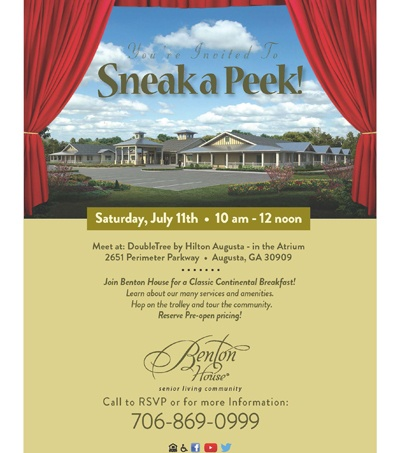 Sneak A Peek Join Benton House of Augusta in For a Classic Continental Breakfast!
