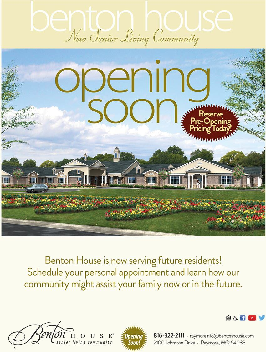Benton house of Raymore is opening soon