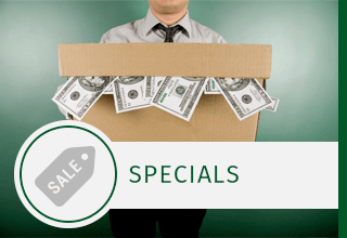 Web special offered for self storage facility in Greensboro