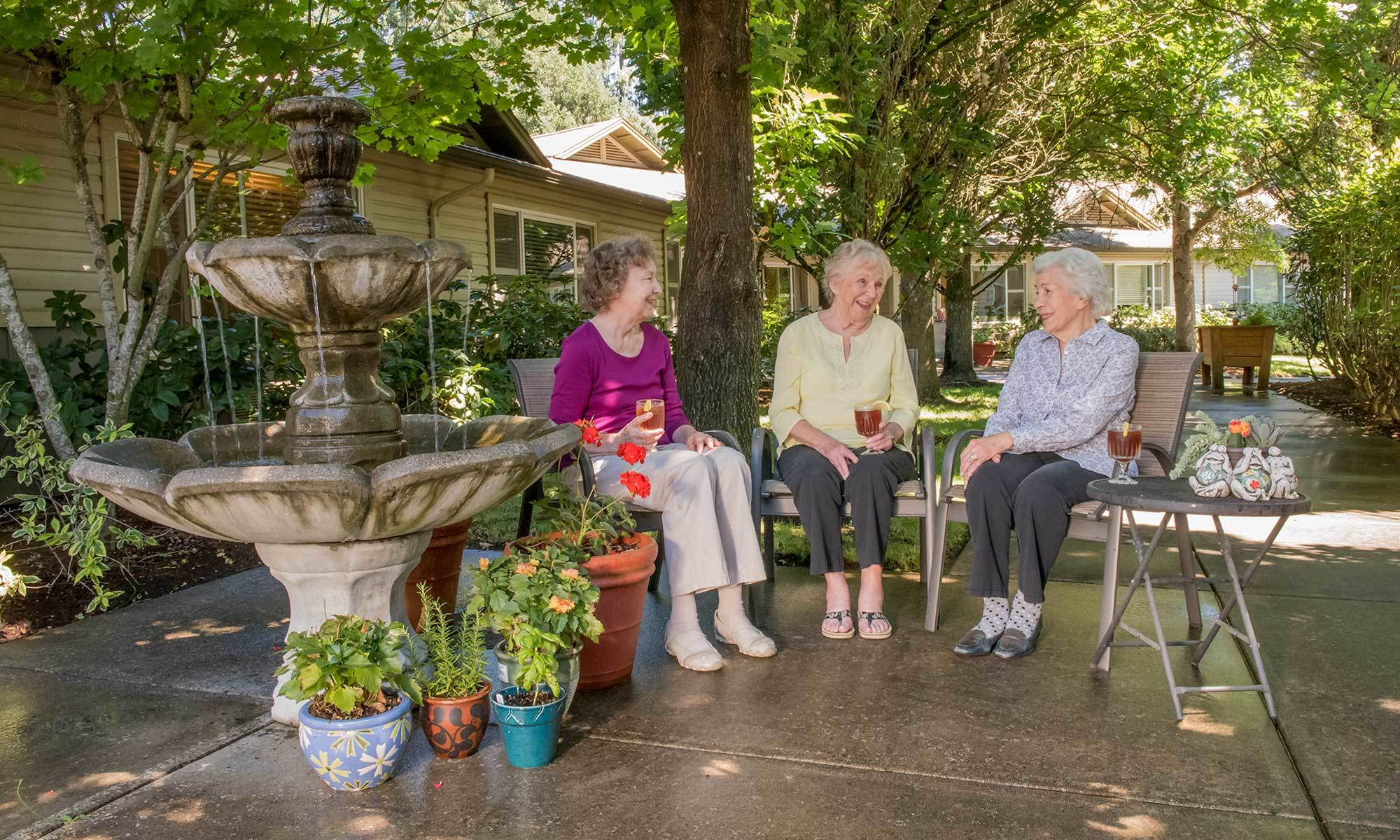 You've never been as happy as you are at our senior living facility in Wilsonville, OR!