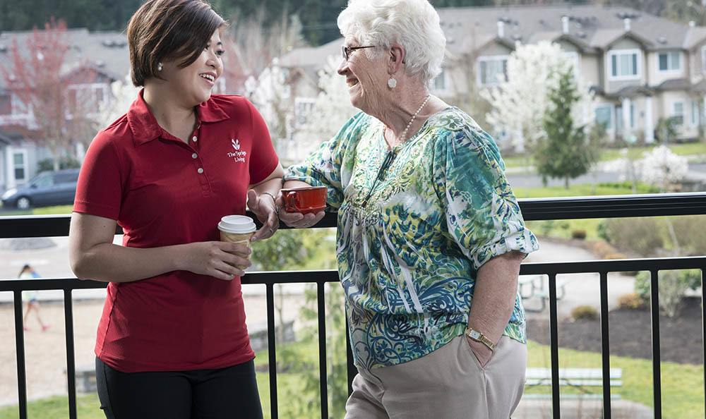 You've always got a friend at our senior living facility in Milwaukie, OR