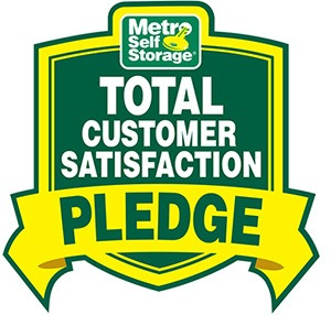 Metro Self Storage Total Customer Satisfaction Pledge
