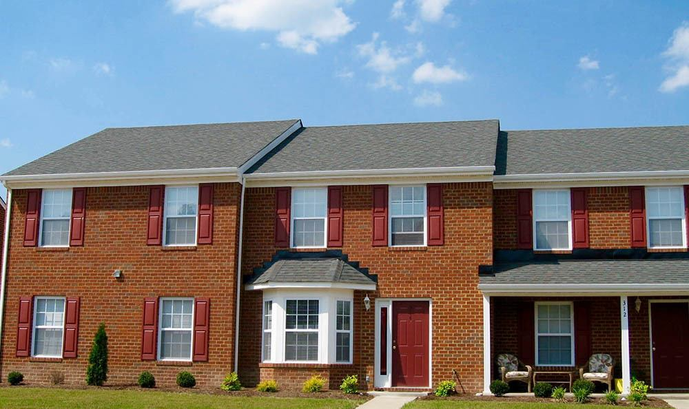 Town homes at Beamon's Mill Townhomes in Suffolk, VA