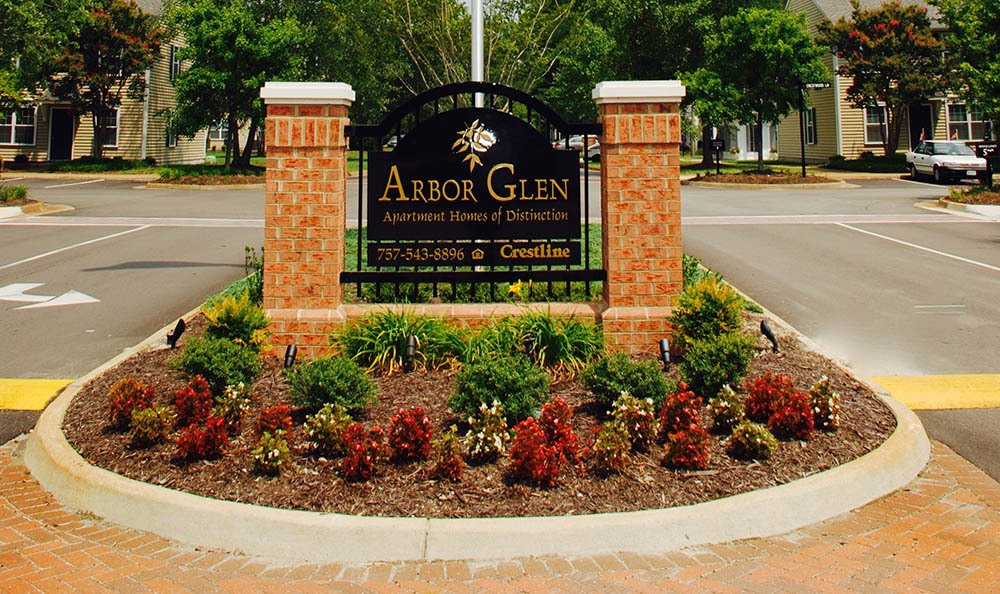 sign of Arbor Glen Apartments in Chesapeake, VA