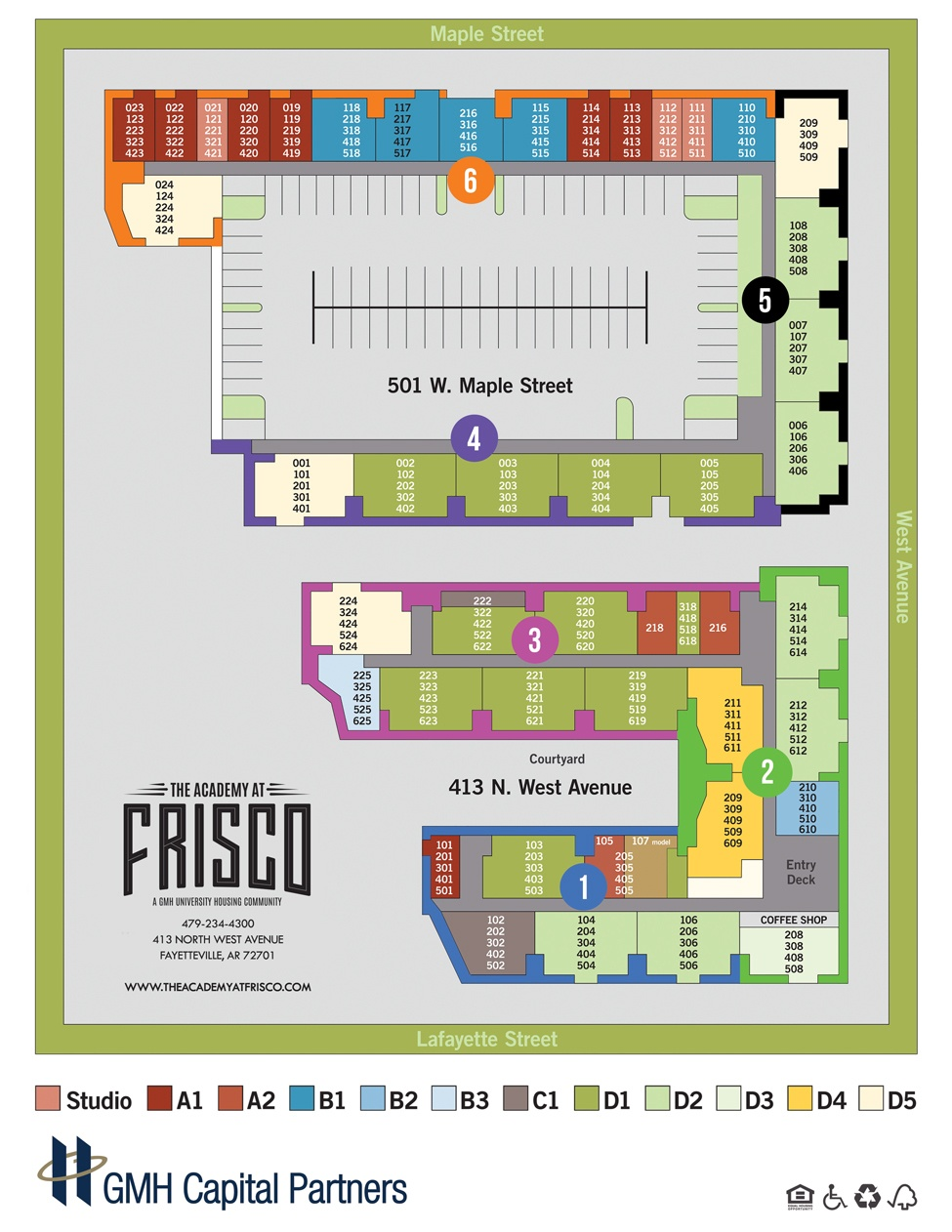 luxury 1 2 3 4 bedroom apartments for rent in fayetteville ar site plan map for our student apartment community here at the academy at frisco