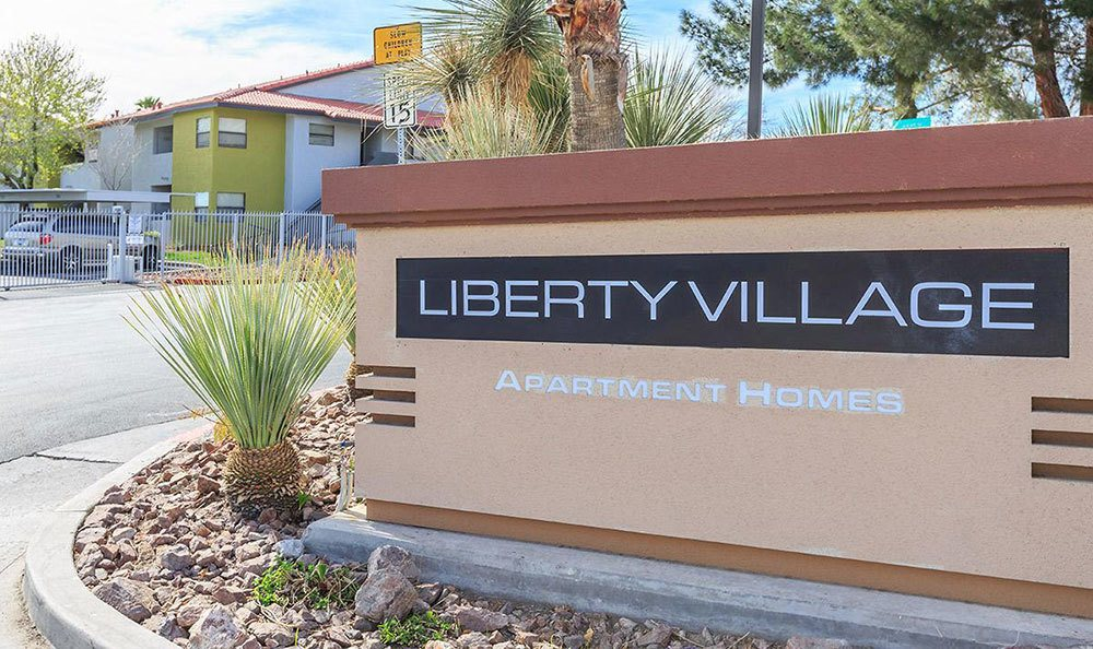 Exterior sign at the apartments for rent in Las Vegas