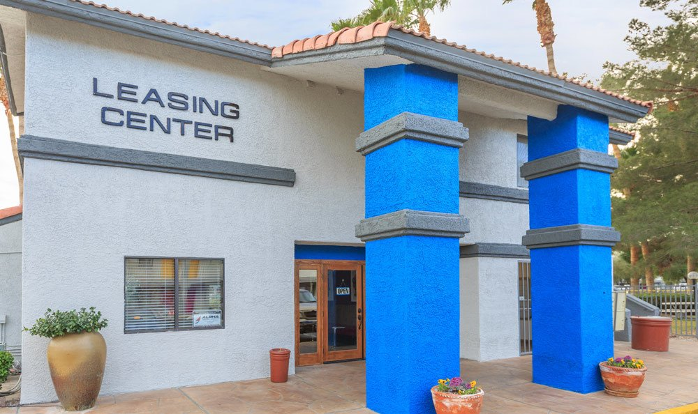 Leasing center at the apartments for rent in Las Vegas