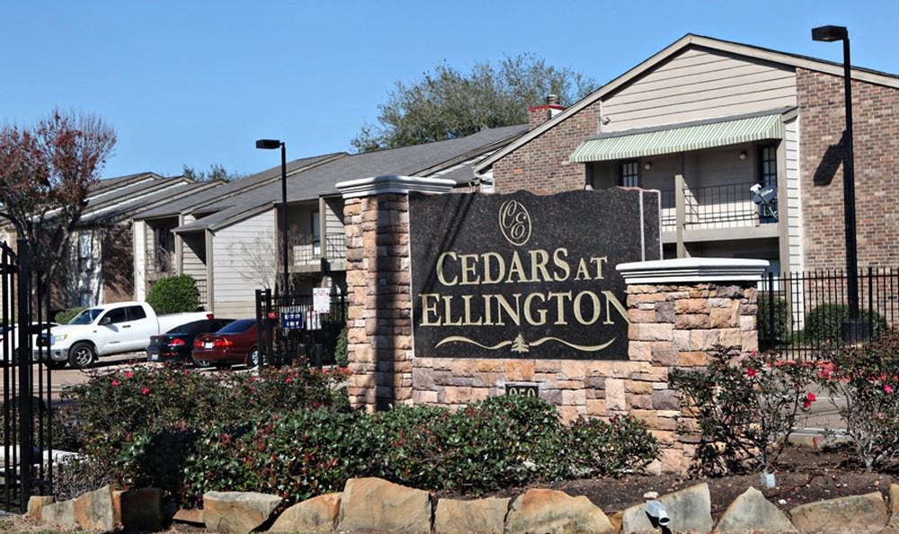 Cedars at Ellington sign in TX, Houston