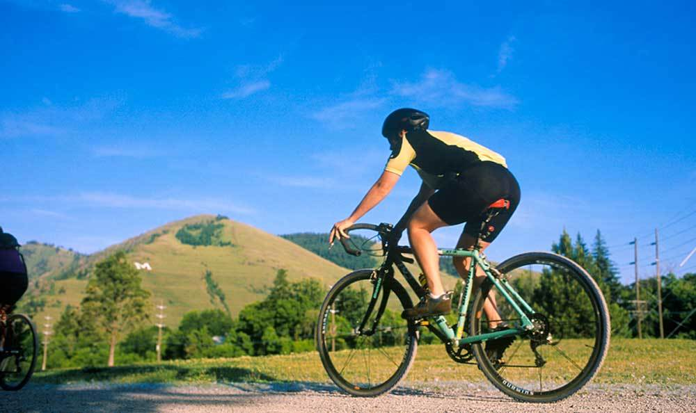 Biking right outside your door at our apartments in Missoula