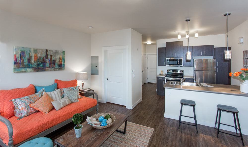 Photos Of Talus Apartment Homes In Great Falls. The Living Room ...