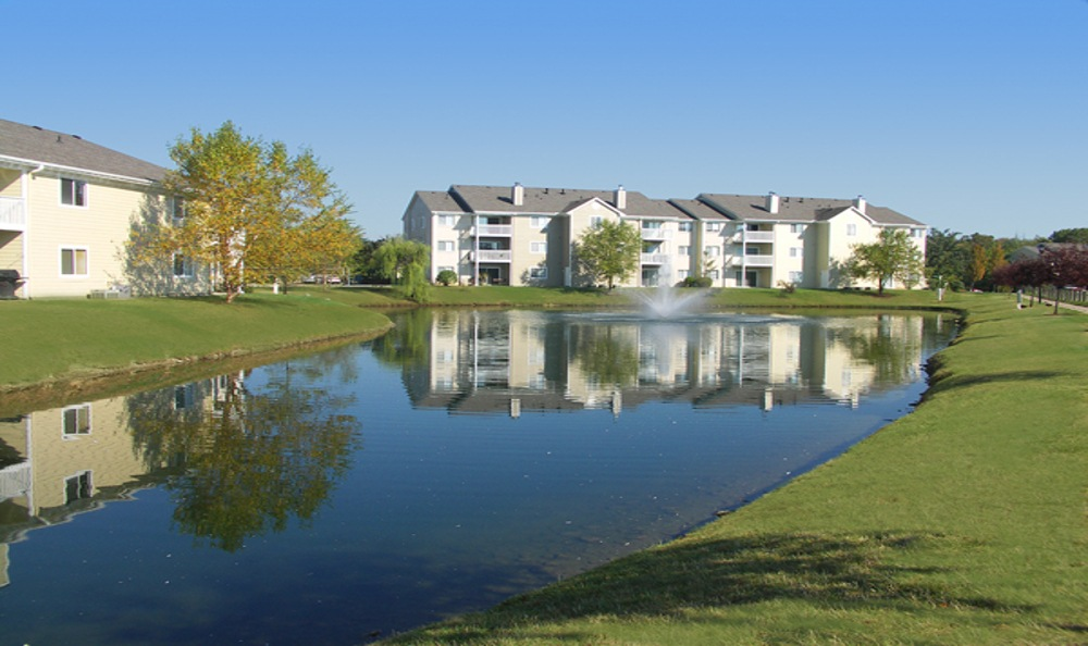 Lake view at Island Club Apartments