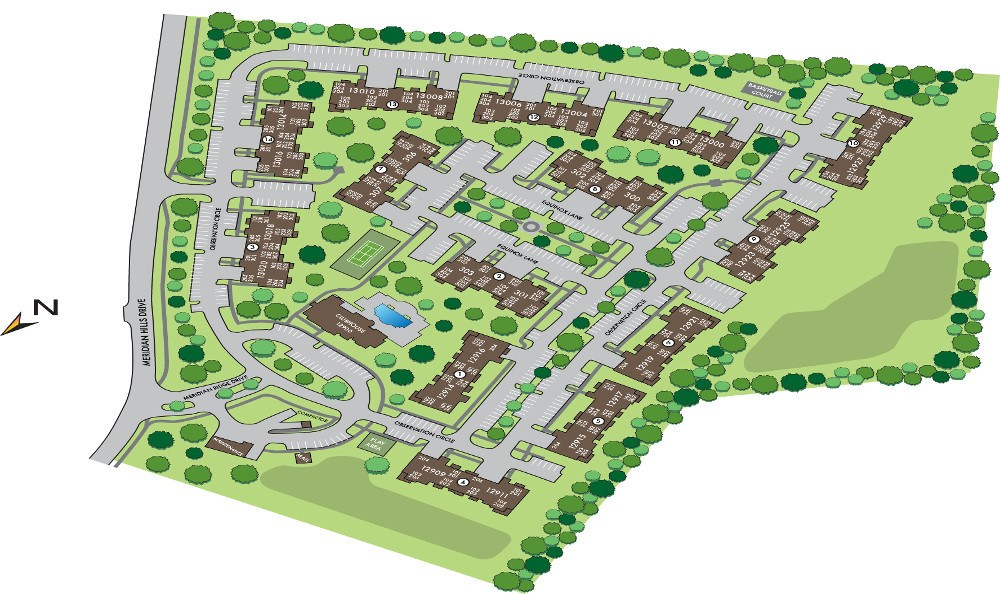 Site Map for Meridian on Shelbyville