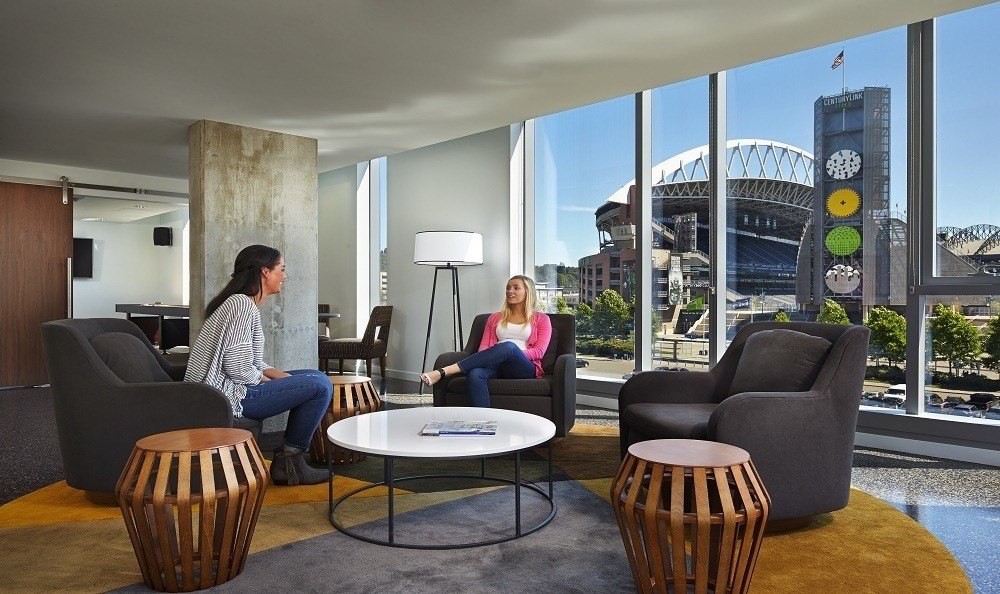 Rooms with a view at Stadium Place