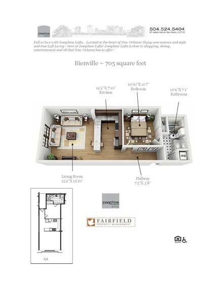 Luxury 1 2 bedroom apartments in new orleans la - One bedroom apartments in new orleans ...