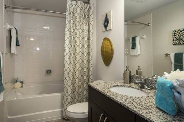 Luxurious bathrooms in our apartments at Alta Congress