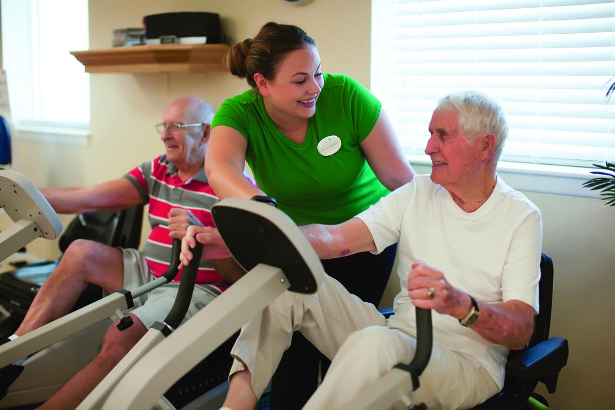 Fitness options at Magnolia Glen Senior Living