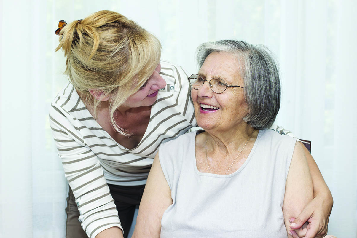 Senior woman and daughter enjoying the day at Magnolia Glen