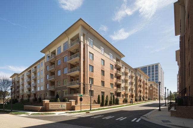 Street view of senior living in Raleigh