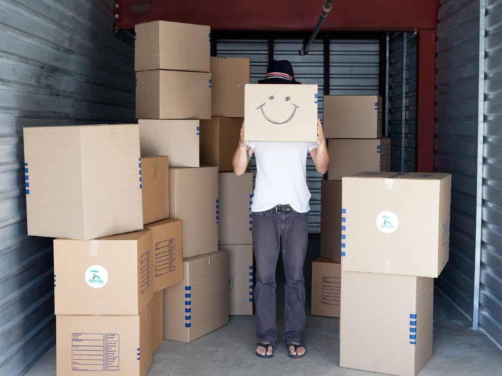 Packing supplies at SoCal Self Storage