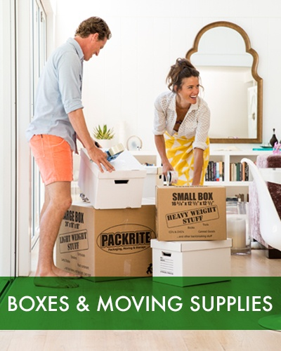 Boxes and moving supplies at SoCal Self Storage