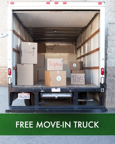 Free move-in truck at SoCal Self Storage