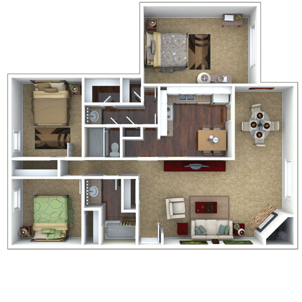 Affordable 1, 2 and 3 Bedroom Apartments in Lenexa, KS