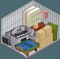 10x10 Storage unit at Storage Court