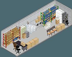 10x20 Storage unit at Storage Court