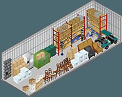 10x30 storage unit at Storage Court