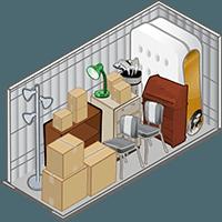 5x10 storage unit at Storage Court