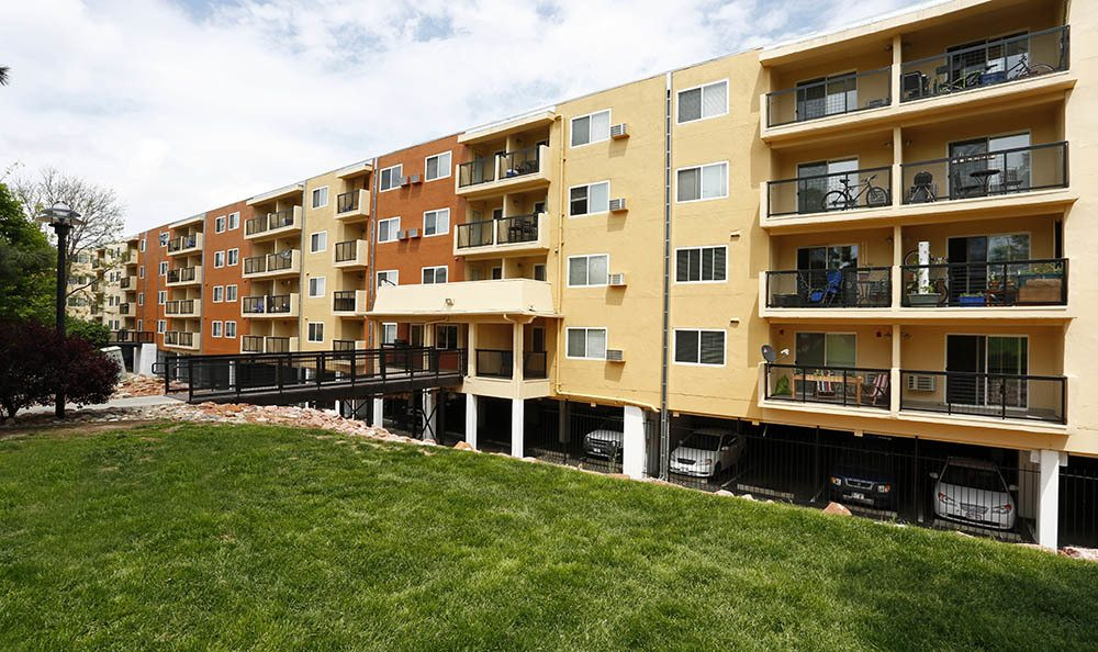 Exterior of apartments in Denver