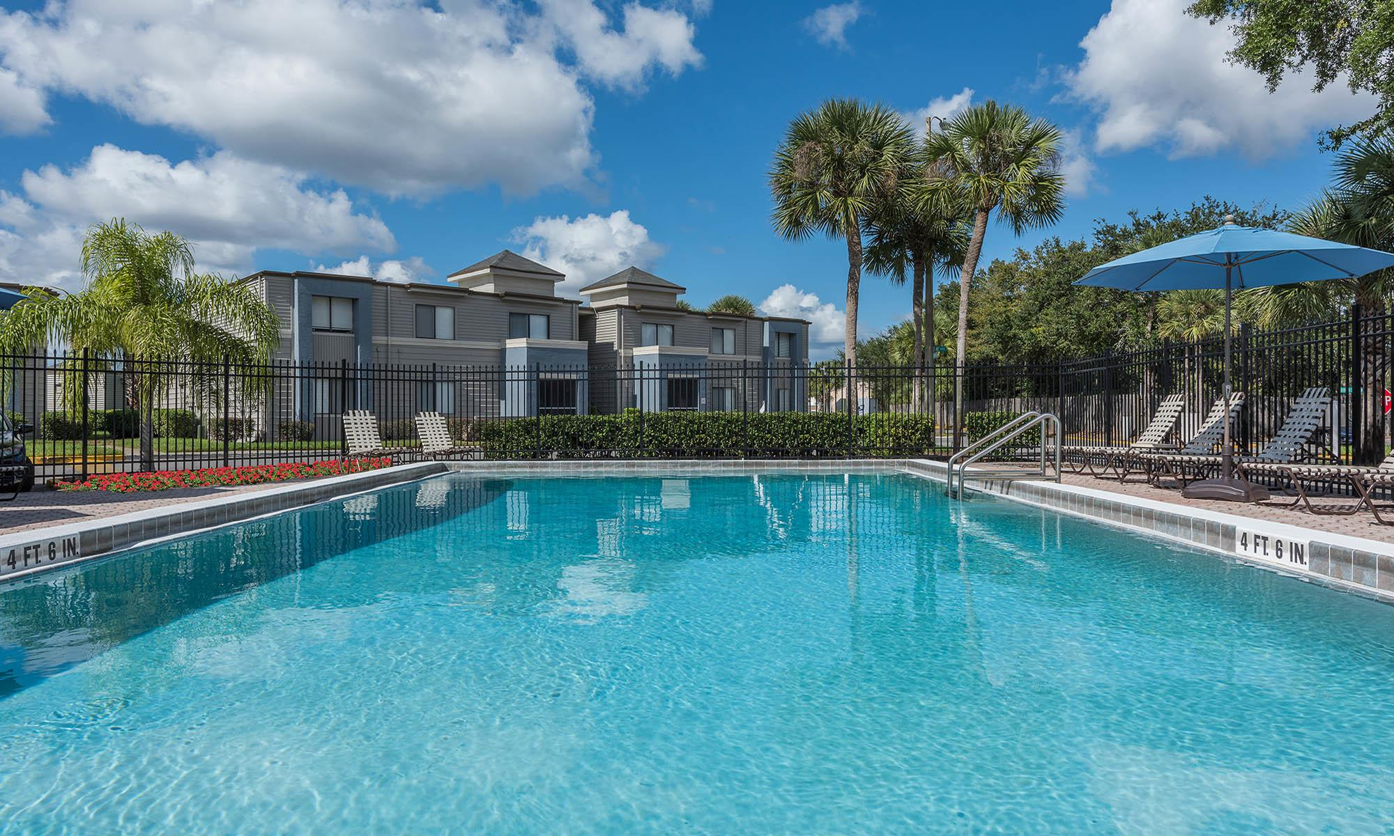 Swimming pool at our apartments in Fern Park, FL