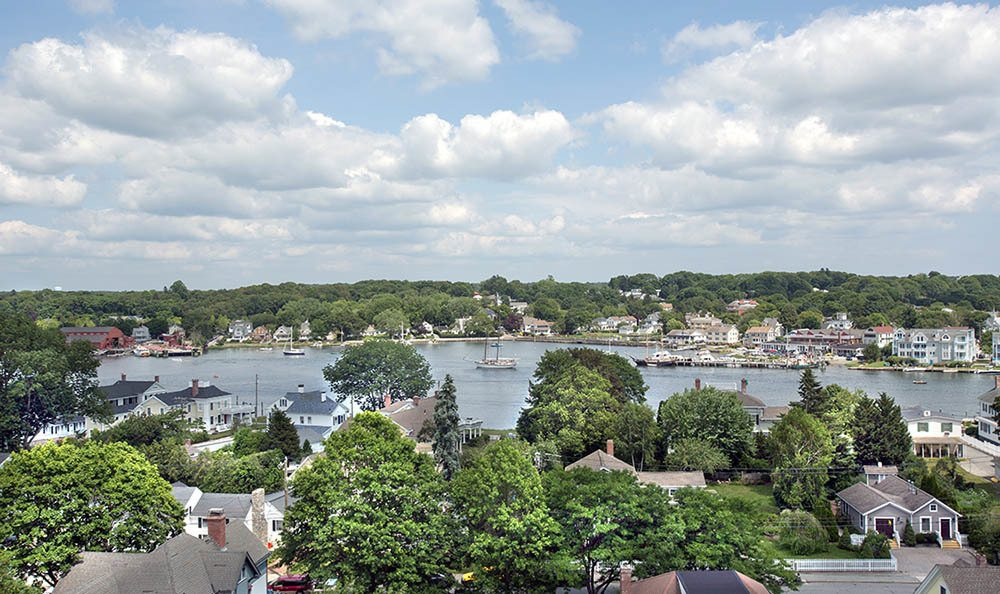 Wonderful view of Mystic, CT