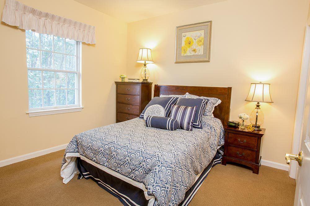 Bedroom at senior living in CT