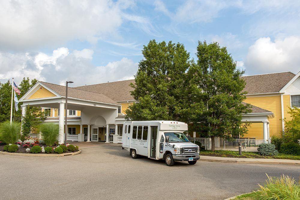 Exterior views of senior living in Milford, CT