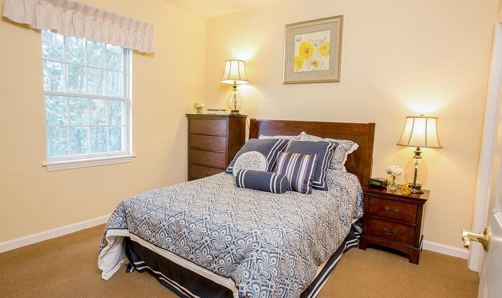Bedroom at senior living in CT